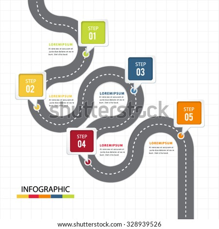 Point to information bubble infographic. - stock vector