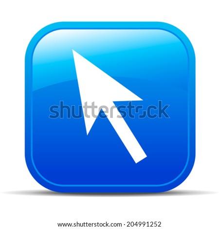 Pointer Internet button Icon presentation Choose App Apps - stock vector