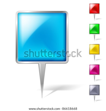 Pointers set. Illustration on white background for design - stock vector