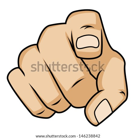 pointing finger - stock vector