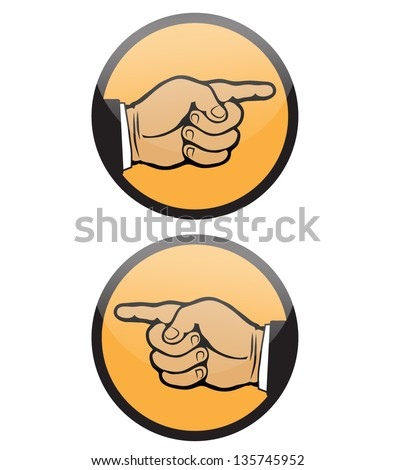 POINTING FINGER HAND VECTOR - stock vector