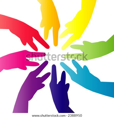 pointing hands - stock vector