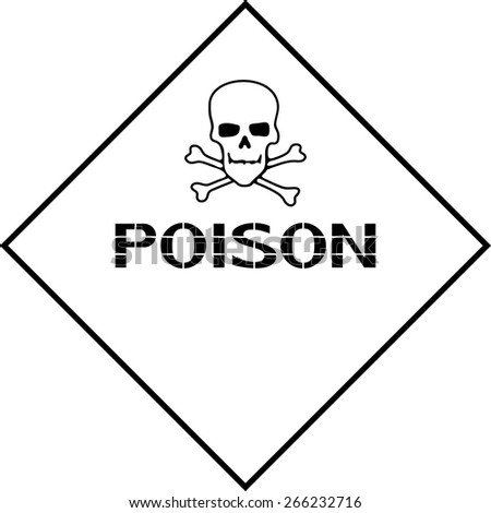 Poison. Poster for the safety of the environment and health. Vector illustration.