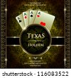 Poker aces. Vector background. - stock photo
