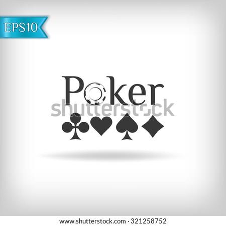 poker and casino - stock vector