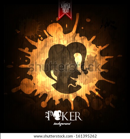 Poker background Joker - stock vector
