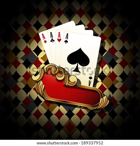 Poker banner - stock vector