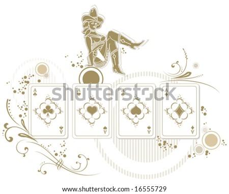 poker card illustration - stock vector