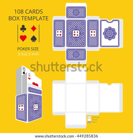 playing card size template