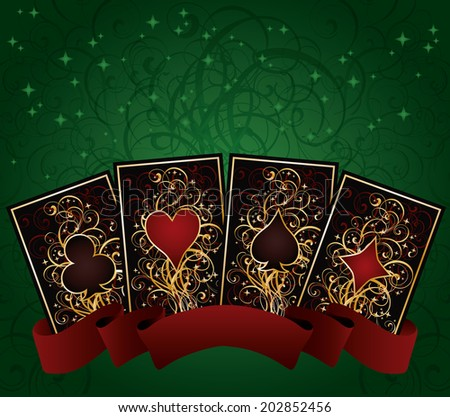 Poker cards, vector illustration