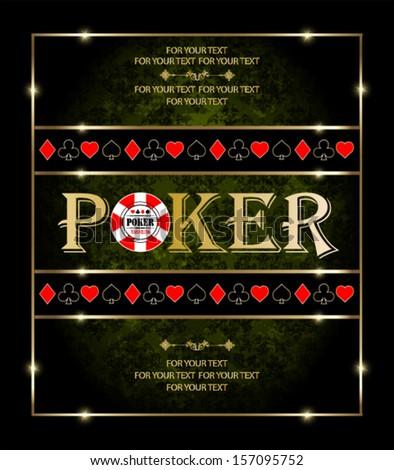 poker Casino  - stock vector