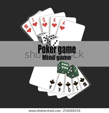 Poker casino gambling set with cards chips. vector illustration for design banner.