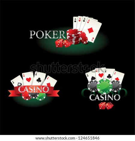 poker casino new - stock vector