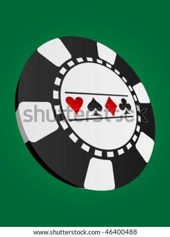 poker chip - stock vector