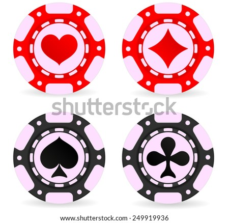 Poker chips - vector isolated