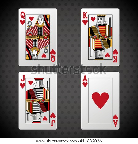 Poker design, cards and game concept ,, casino games - stock vector