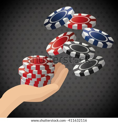 Poker design, game and chips concept ,, casino games - stock vector