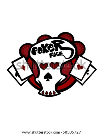 Poker face download skull