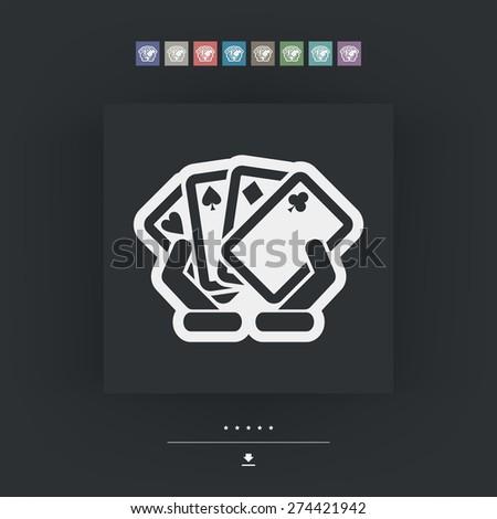 Poker game icon - stock vector