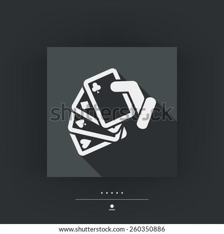 Poker game icon concept - stock vector