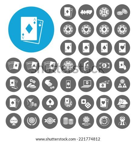 Poker icons set. Illustration EPS10 - stock vector