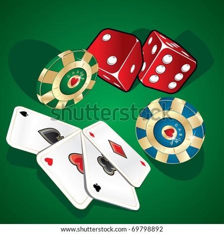Poker illustration - stock vector