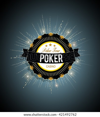 Poker tour vector background - stock vector