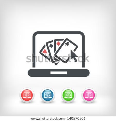 Poker website symbol icon - stock vector
