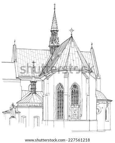 Poland Krakow Church Vector Sketch Stock Vector (Royalty Free) 227561218 - Shutterstock