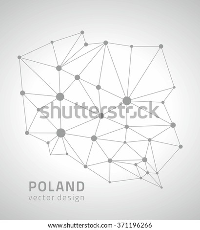 Poland outline map - stock vector