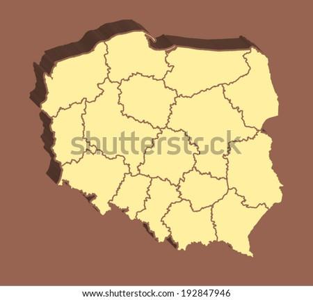 Poland Vactor Map - stock vector