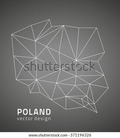 Poland vector map - stock vector