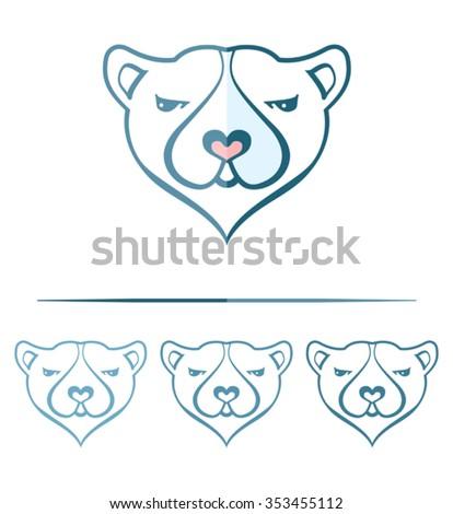 Polar bear face template design stock vector 353455112 shutterstock polar bear face template design maxwellsz