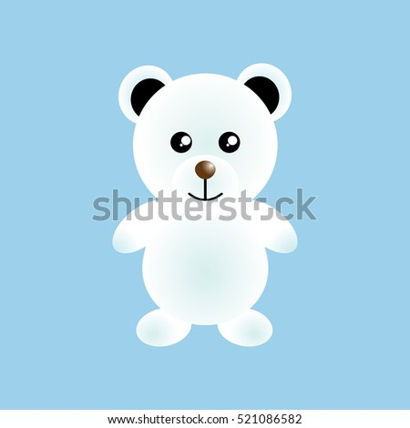 Polar Bear icon, Christmas and New year. Winter. Vector Illustration. Celebration.