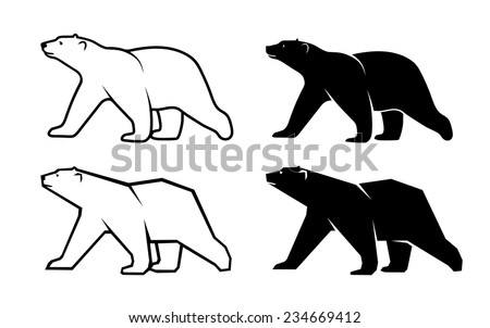 polar bear symbol of the Arctic - stock vector