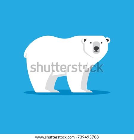 polar bear vector illustration flat style stock vector. Black Bedroom Furniture Sets. Home Design Ideas