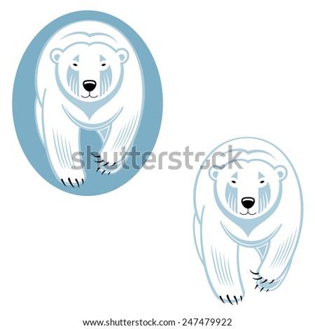 Polar bear - wild animal from North Pole - stock vector