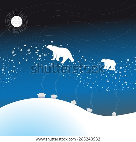Polar bears flow along Milky Way