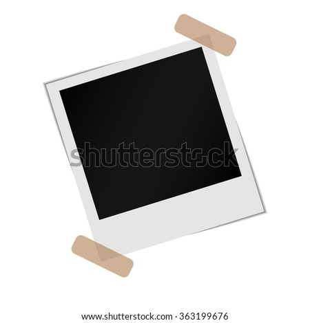 Polaroid photo frames. Vector illustration - stock vector