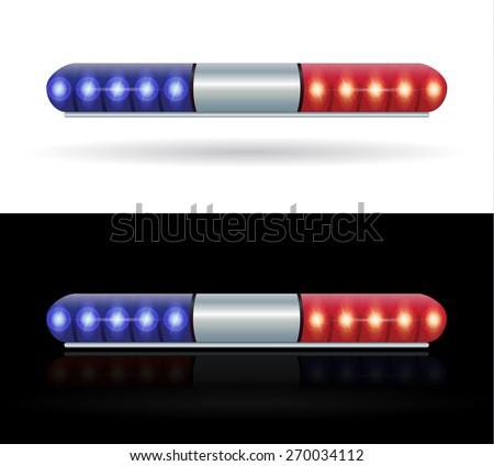polic emergency lightbar siren speaker ambulance vehicle - stock vector