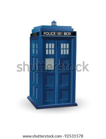 Police Box - stock vector