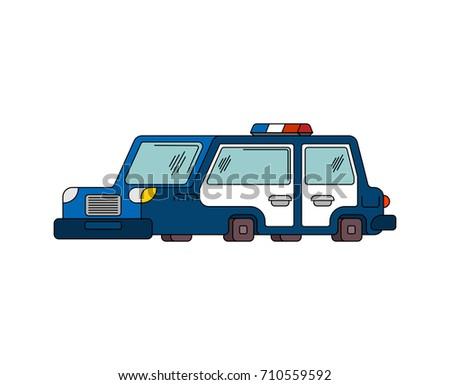 Police Car Cartoon Style Patrol Car Stock Vector 710559592