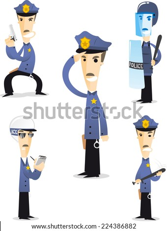 Police cartoon collection 1.