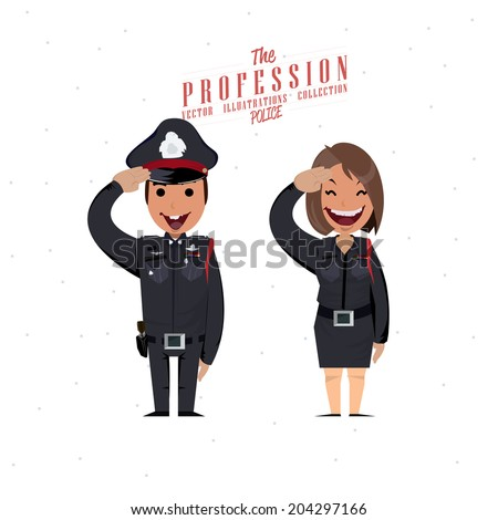 police character - vector illustration - stock vector