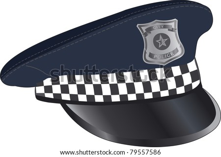 Police city cap - stock vector