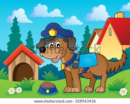 Police dog theme image 2 - eps10 vector illustration.