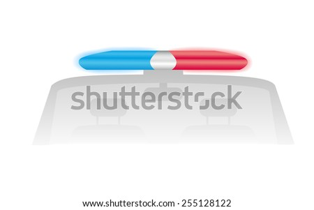 Police flash lights - stock vector