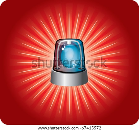 police light and alarm - stock vector
