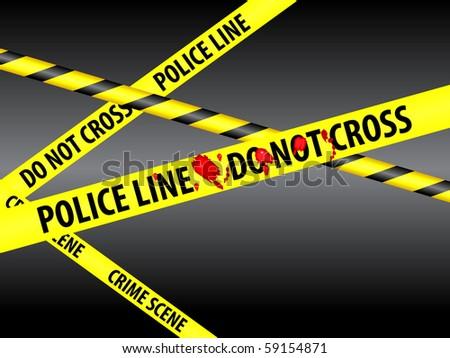 police line tape - stock vector