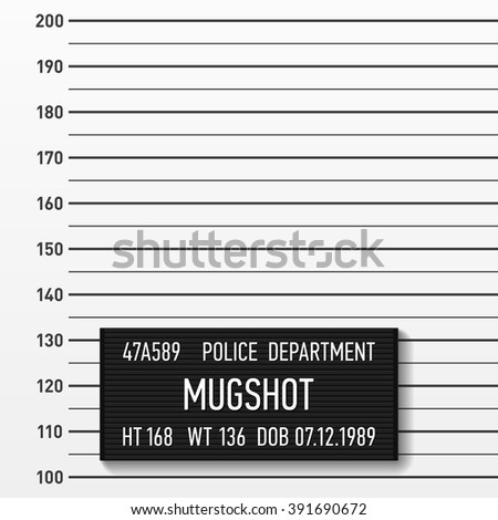 Police mugshot. Add a photo. Centimeters, vector. - stock vector